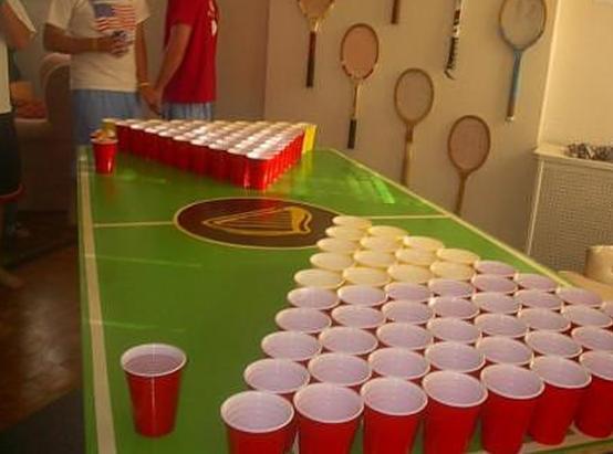 Improvise Beer Pong Supplies