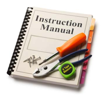 Instructions Manual with tools