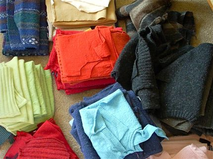 Make Felt from Recycled Jumpers