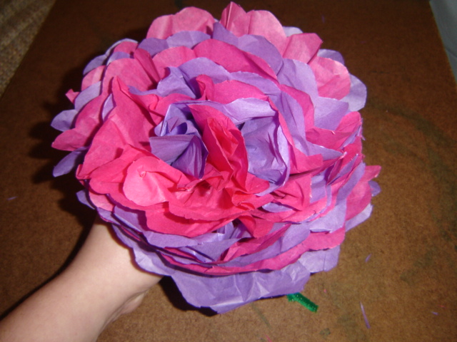 3d tissue paper flower engneforic how to make tissue paper flowers with kids mightylinksfo