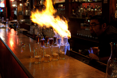 Flaming Hell Shot