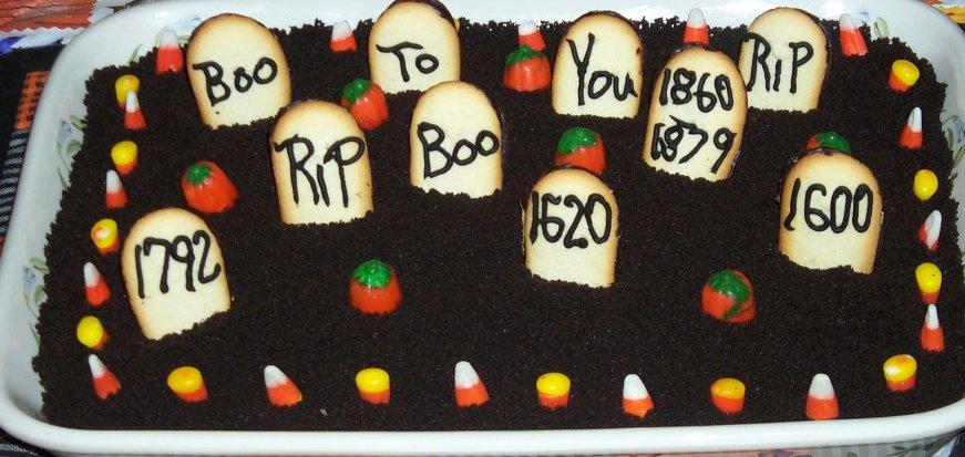 Graveyard pudding cake recipes