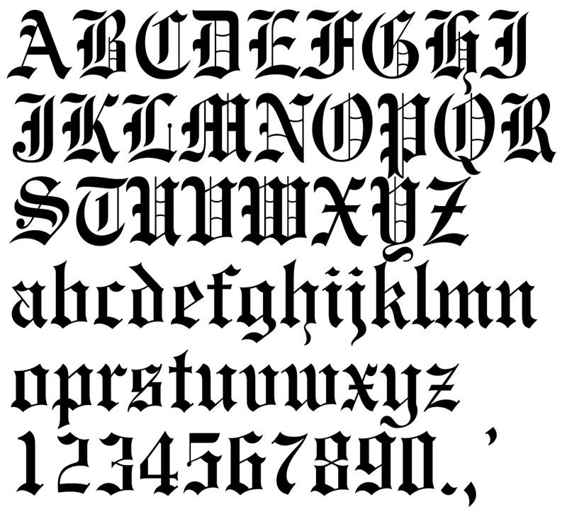 Old English alphabets