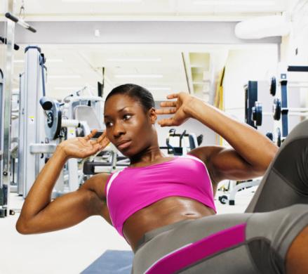 A girl Strengthening muscles