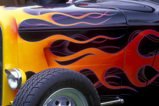 Close-up of a classic car