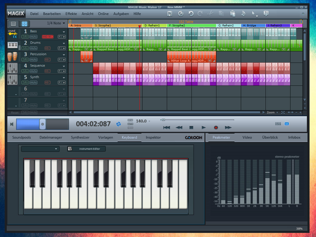 how to use music maker deluxe