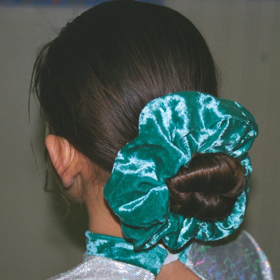 Woman with Scrunchie Hair Bun