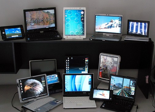 Numerous Tablet PCs