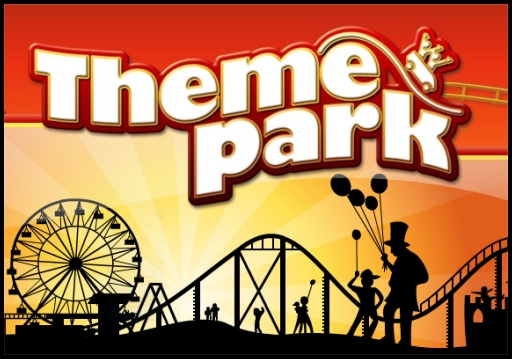 Theme Park Cartoon
