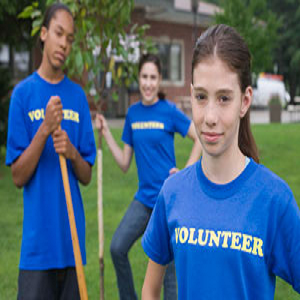 Volunteer girls