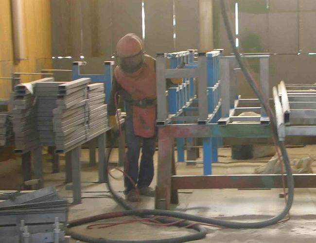 What is industrial sandblasting and painting jobs for Sandblasting and painting