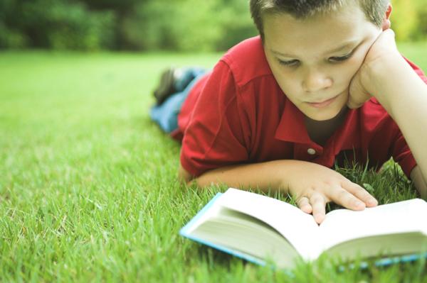 Child Enjoying a Book
