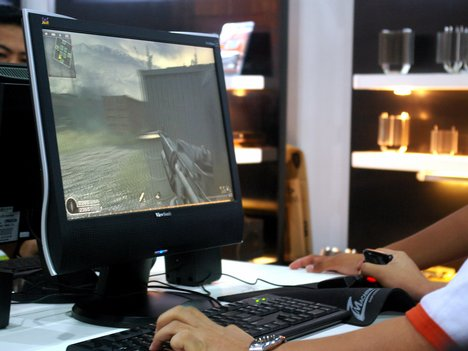 Playing games on computer
