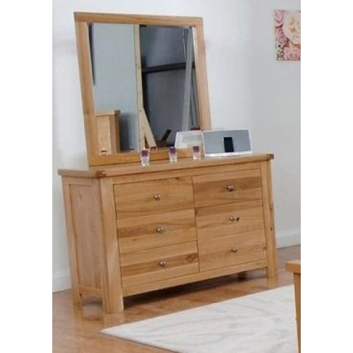 Mirror attached to a dresser