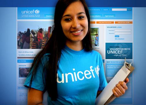 Volunteer Girl at UNICEF