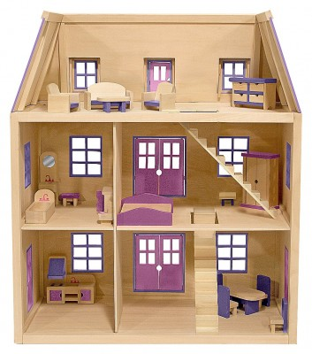 Every girl dreams of having a beautiful house for her Barbie dolls ...