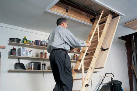 Attic Access Ladder
