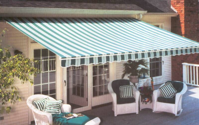 Awning on a House