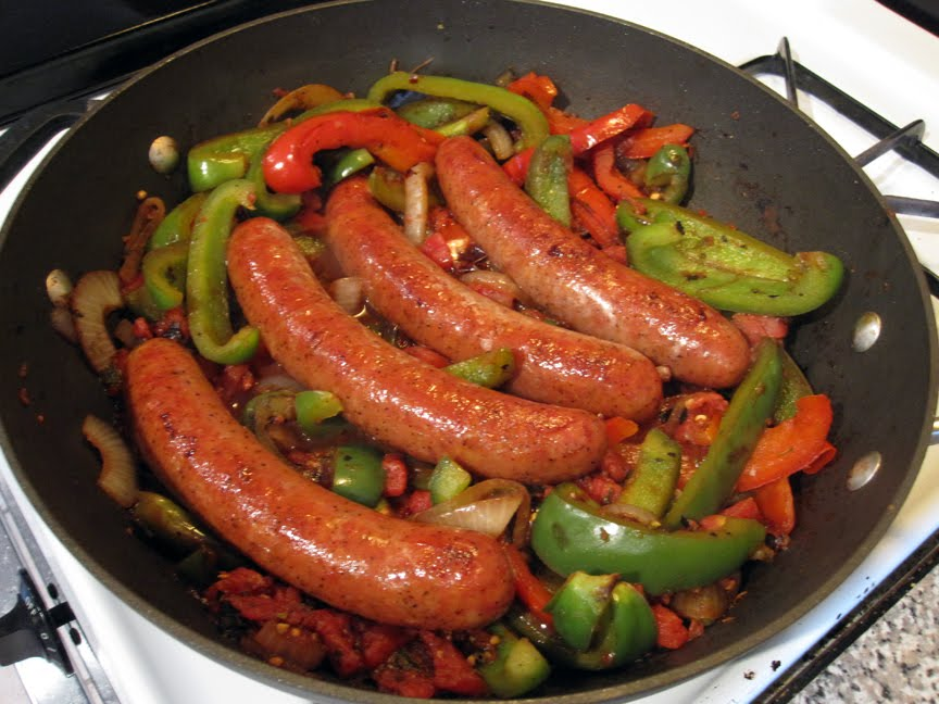 Cook Sausage and Peppers