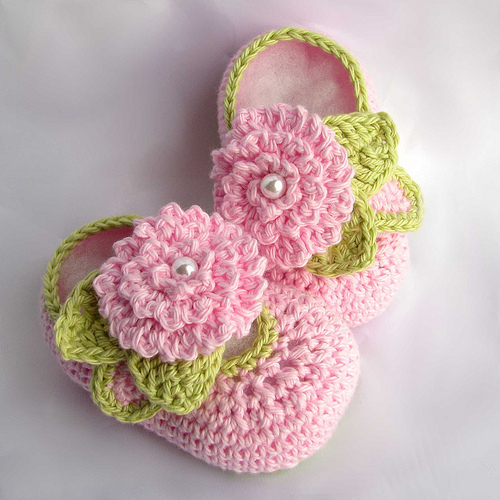 Crochet For Baby : How to Crochet Baby Slippers