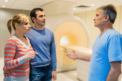 Couple with a radiologist.