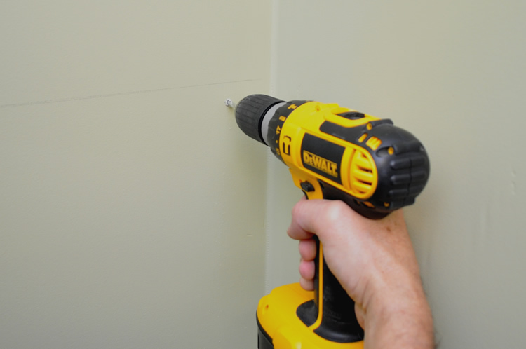 Drilling the wall