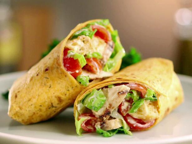 Chicken Ceasar Salad Wraps