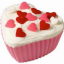 Heart Shaped Cupcake