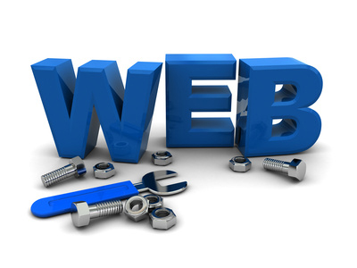web' with wrench and nuts