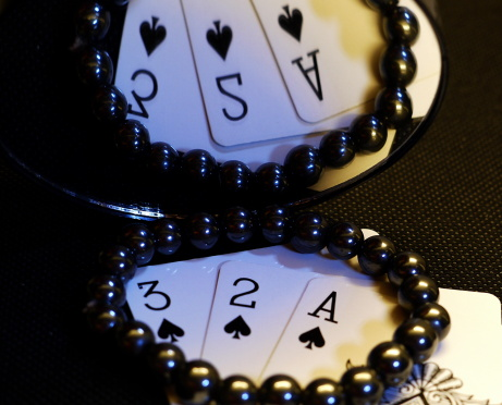 Wish Bracelet with playing cards