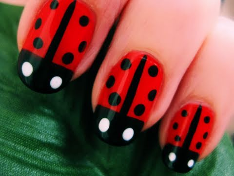 How to Paint Ladybugs on Your Nails