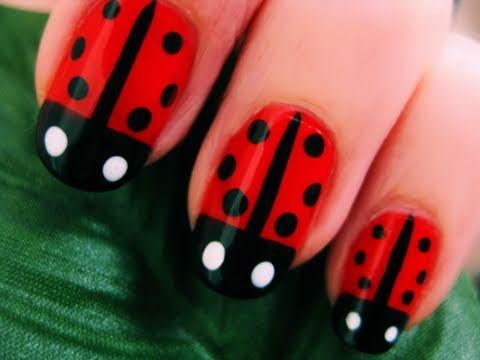 Ladybugs on nails