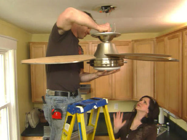 Removing a Ceiling Fan