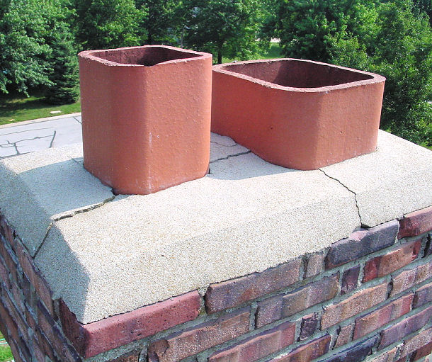 how to build a chimney crown