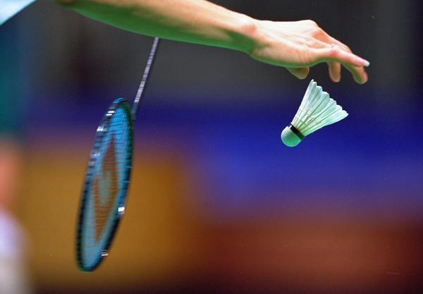 Serving in badminton