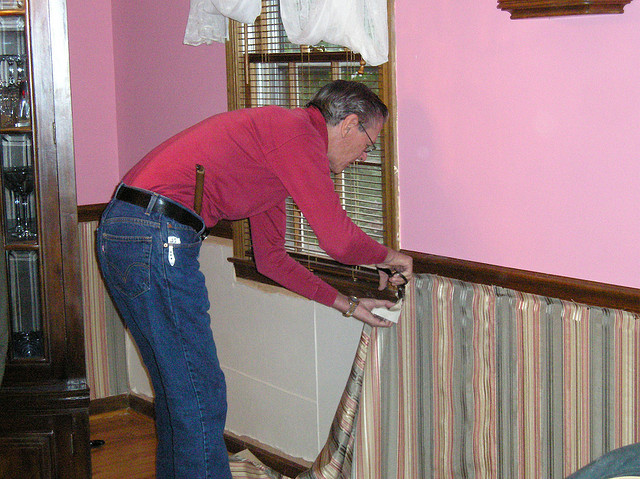 Upholstering a Wall