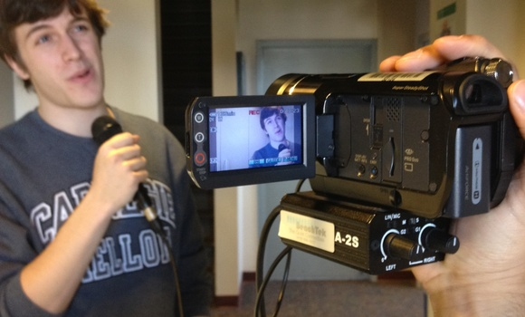 Using camcorder