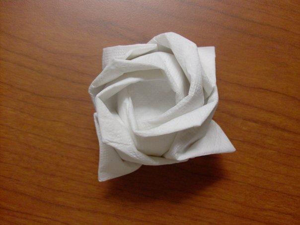 How to Make a Napkin Flower : Napkin Rose from www.stepbystep.com size 604 x 453 jpeg 36kB