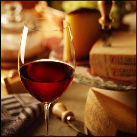 wine in glass