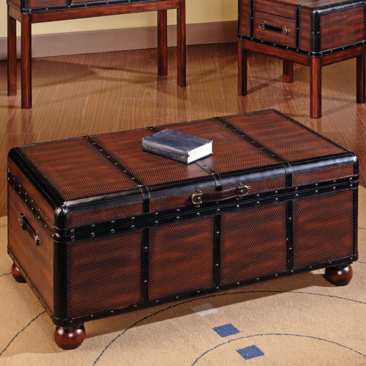 Antique Black Trunk Coffee Table