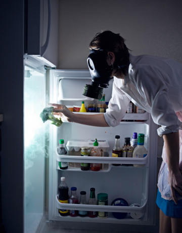 Cleaning a Smelly Refrigerator