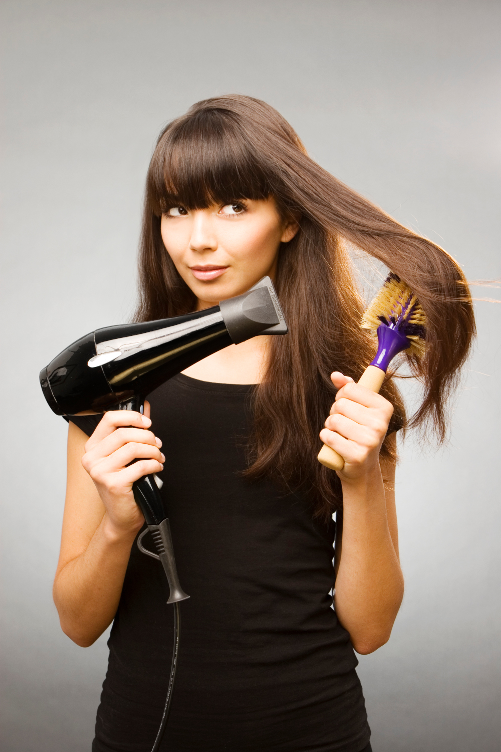 Blow Drying Hair Straight