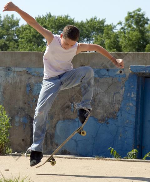 Ollie on a Skateboard