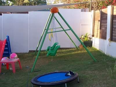 Swing Set on a Sloped Yard
