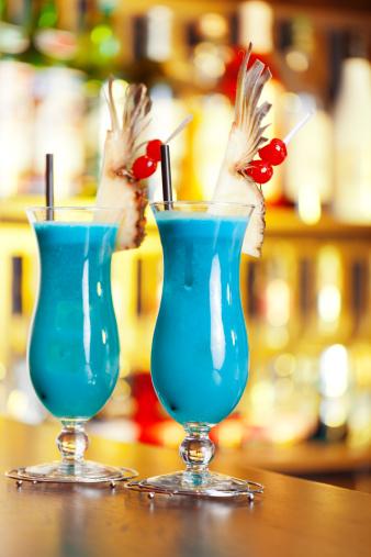 Blue Hawaiian Mixed Drink
