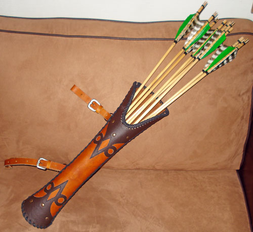 How to make a leather quiver