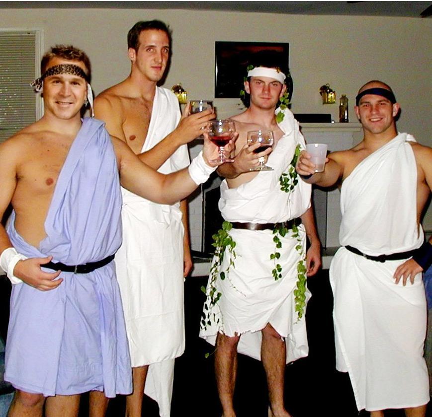 Men wearing Toga