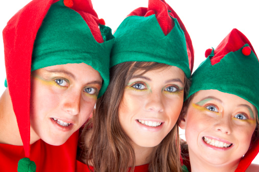 Three Christmas Elves