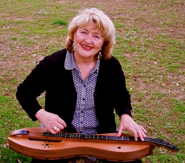 Woman playing Appalachian Dulcimer