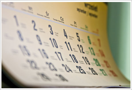 Calendar to help you remember birthdays